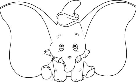 Cute Baby Elephant Coloring Pages 40