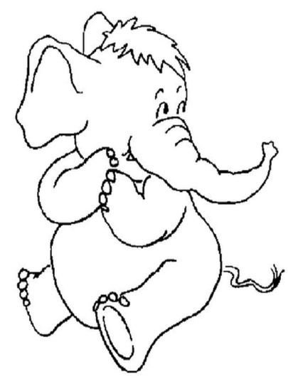 Cute Baby Elephant Coloring Pages 42