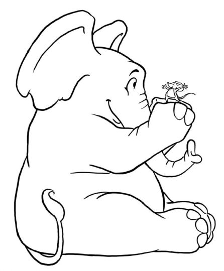Cute Baby Elephant Coloring Pages 47