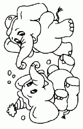 Cute Baby Elephant Coloring Pages 50