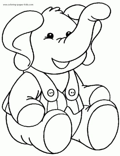 Cute Baby Elephant Coloring Pages - Get Coloring Pages | 540x416