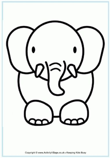 Cute Baby Elephant Coloring Pages 53
