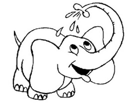 Cute Baby Elephant Coloring Pages 54