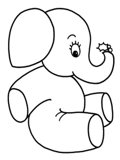Cute Baby Elephant Coloring Pages 55