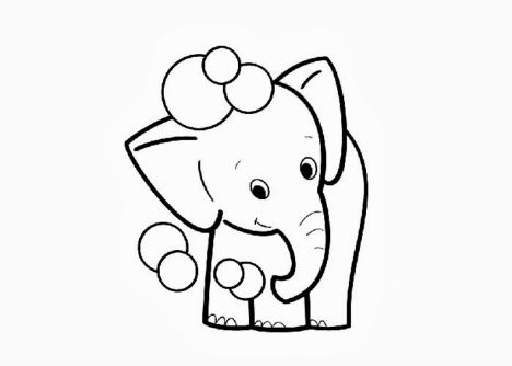 Cute Baby Elephant Coloring Pages 56