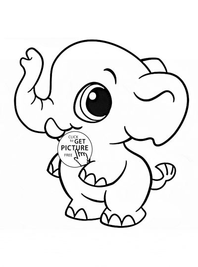 Cute Baby Elephant Coloring Pages 57