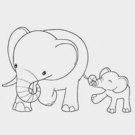 Cute Baby Elephant Coloring Pages 58