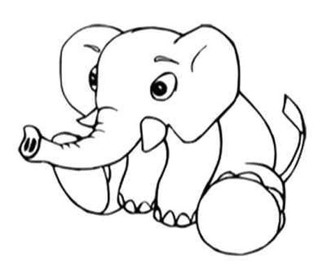 Cute Baby Elephant Coloring Pages 7