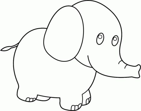 Cute Baby Elephant Coloring Pages 9
