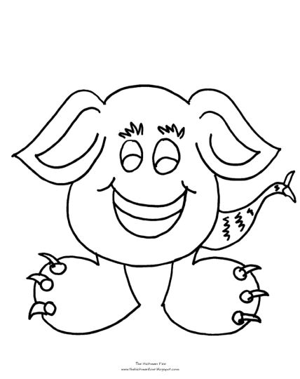 Cute Monster Coloring Pages 10