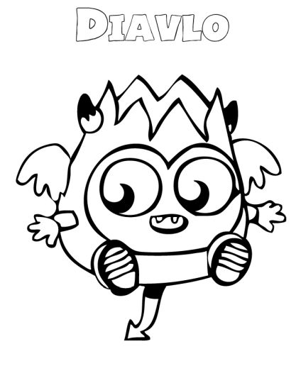 Cute Monster Coloring Pages 14