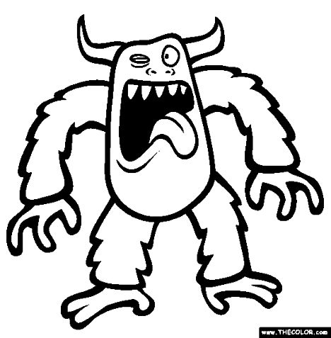 Cute Monster Coloring Pages 15