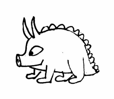 Cute Monster Coloring Pages 16