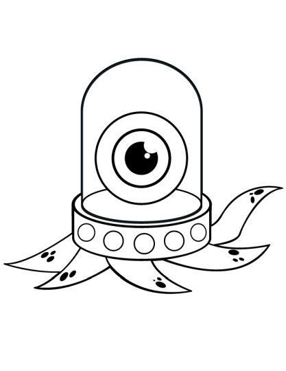 Cute Monster Coloring Pages 20