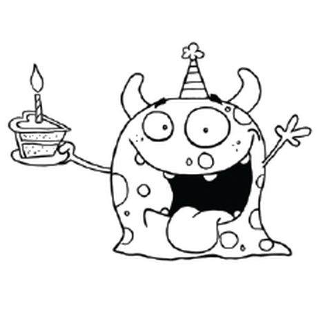 Cute Monster Coloring Pages 28