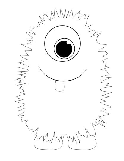 Cute Monster Coloring Pages 3