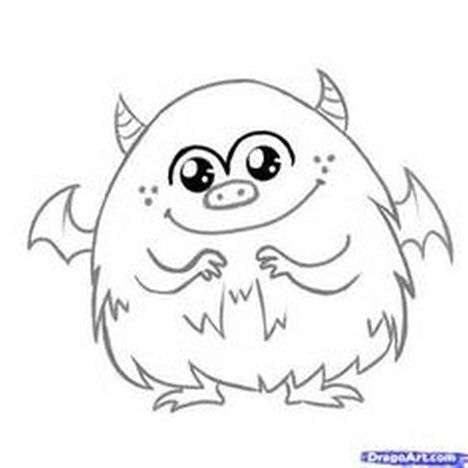 Cute Monster Coloring Pages 30