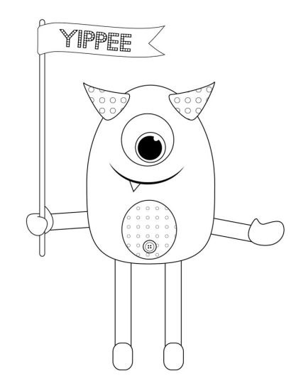 Cute Monster Coloring Pages 31