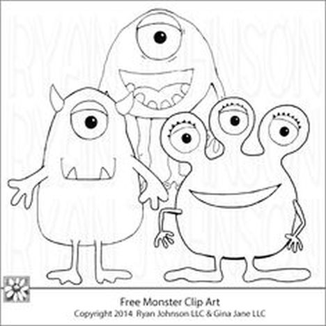 Cute Monster Coloring Pages 33