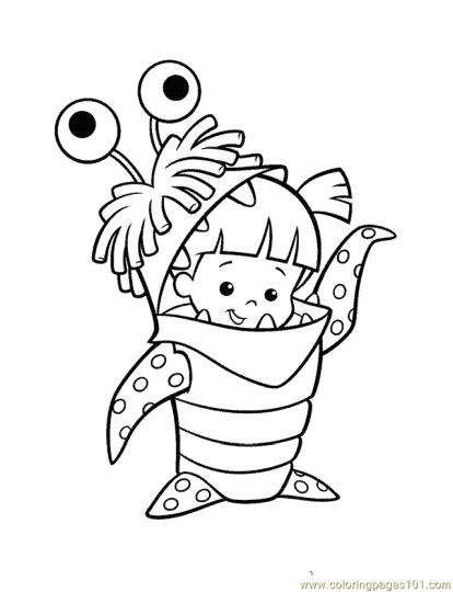 Cute Monster Coloring Pages 34