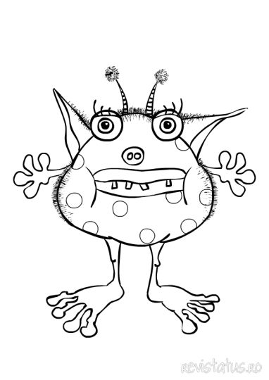 Cute Monster Coloring Pages 36