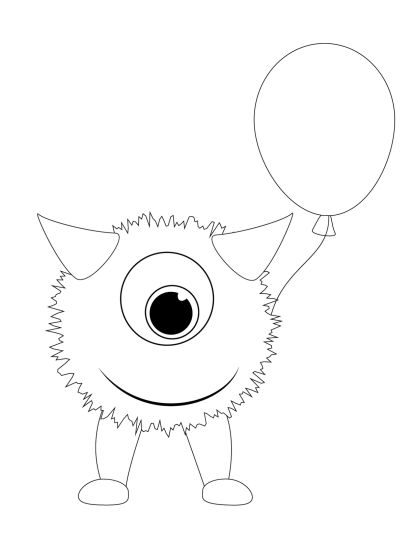 Cute Monster Coloring Pages 39