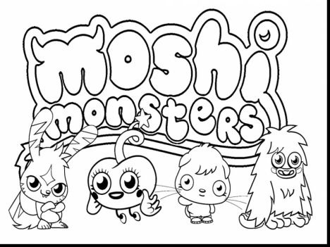 Cute Monster Coloring Pages 45