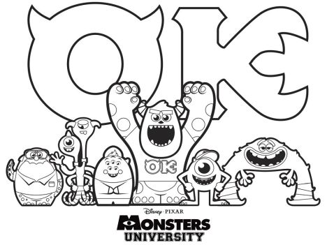 Cute Monster Coloring Pages 48