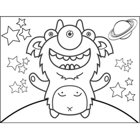 Cute Monster Coloring Pages 49