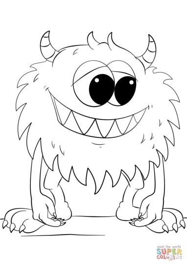 Cute Monster Coloring Pages 50