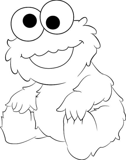 Cute Monster Coloring Pages 51