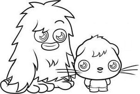 Cute Monster Coloring Pages 55