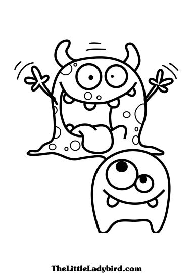Cute Monster Coloring Pages 56