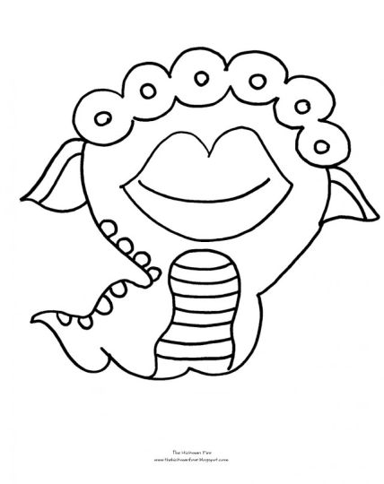 Cute Monster Coloring Pages 57