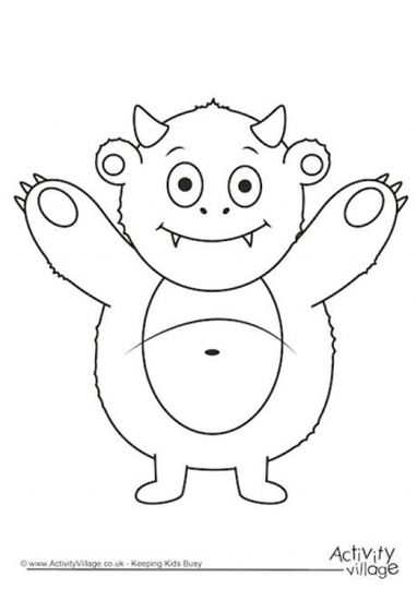 Cute Monster Coloring Pages 6