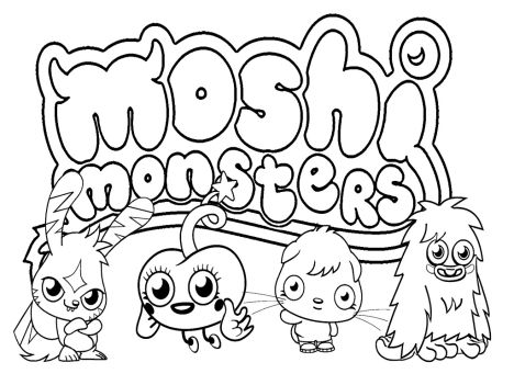 Cute Monster Coloring Pages 60