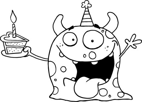 Cute Monster Coloring Pages 62