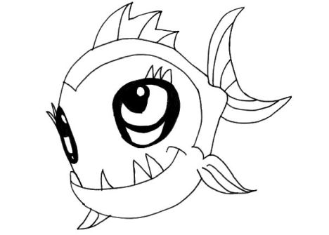 Cute Monster Coloring Pages 64