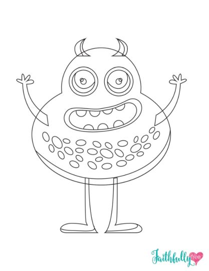Cute Monster Coloring Pages 65