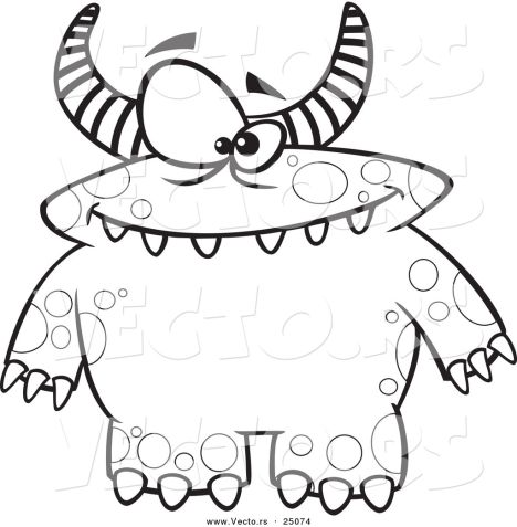 Cute Monster Coloring Pages 68