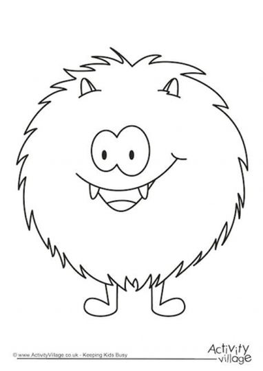 Cute Monster Coloring Pages 7