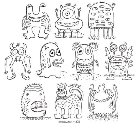 Cute Monster Coloring Pages 74