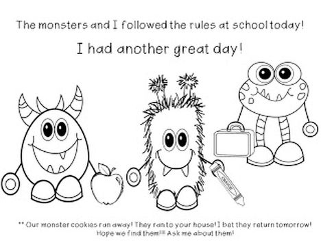 Cute Monster Coloring Pages 8