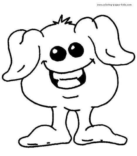 Cute Monster Coloring Pages 9