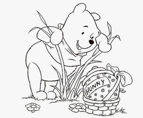 Disney Easter Coloring Pages 1