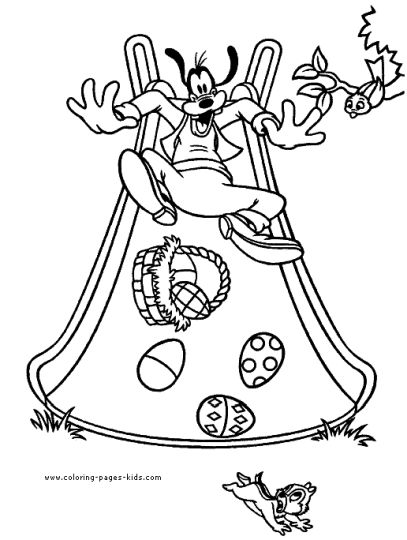 Disney Easter Coloring Pages 13