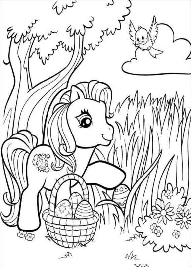 Disney Easter Coloring Pages 15