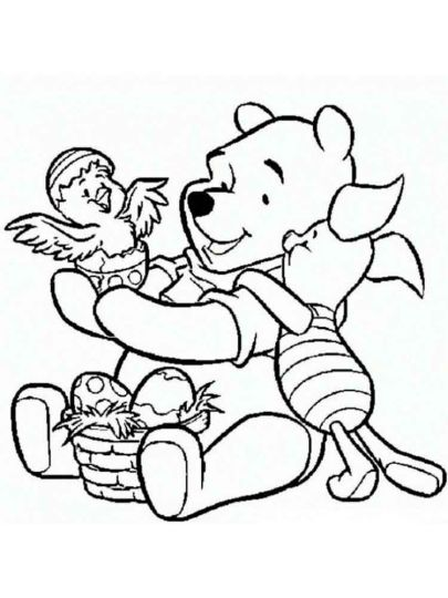 Disney Easter Coloring Pages 2