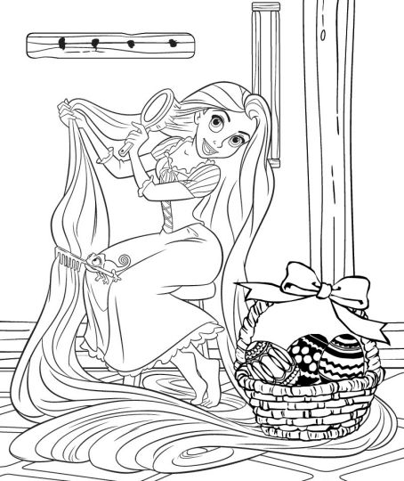 Disney Easter Coloring Pages 23