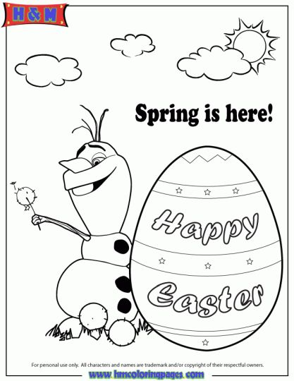 Disney Easter Coloring Pages 24